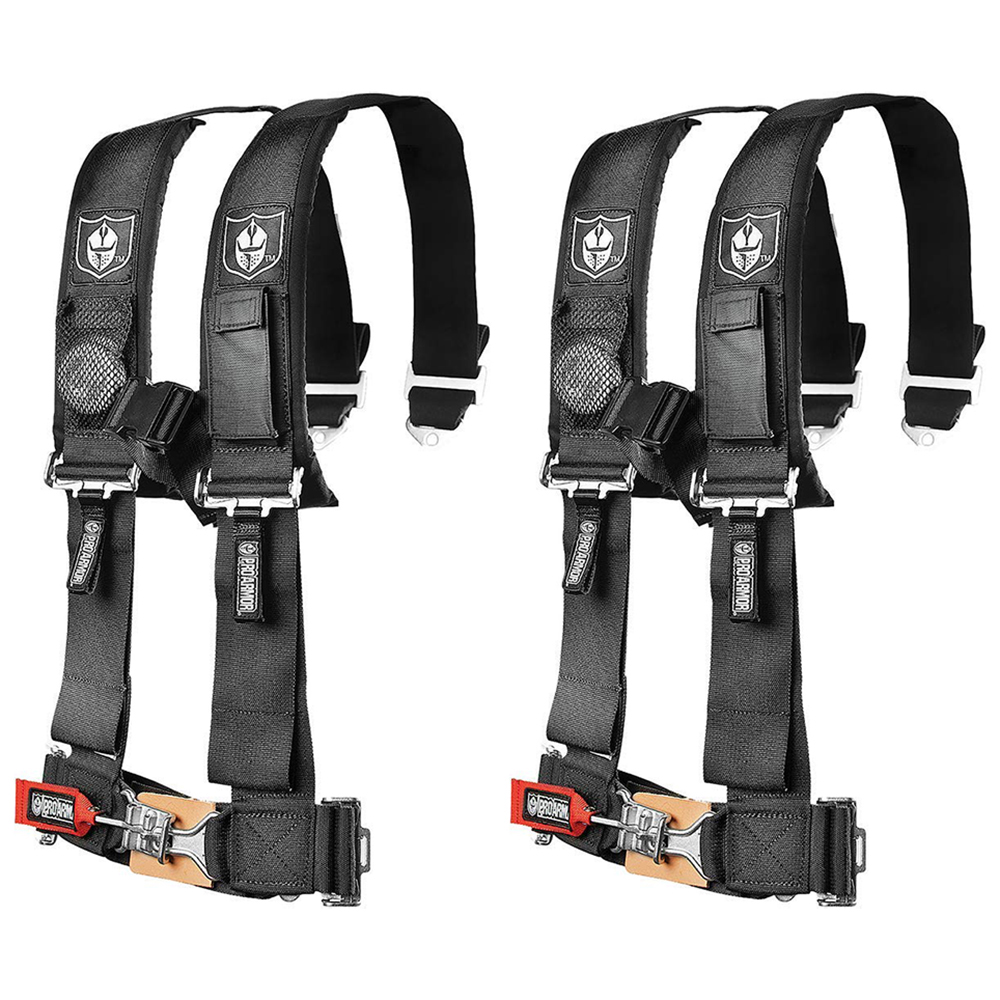 "Pro Armor 4 Point Harness 2/"" Pads Seat Belt PAIR BLACK RZR 800 RZR4 XP900 900 S"